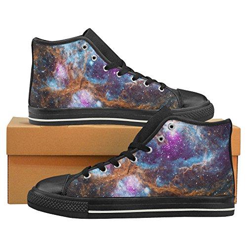 Chaussures De Toile De Dessus Dinterestprint Galaxy Classique Haut Pour Les Hommes