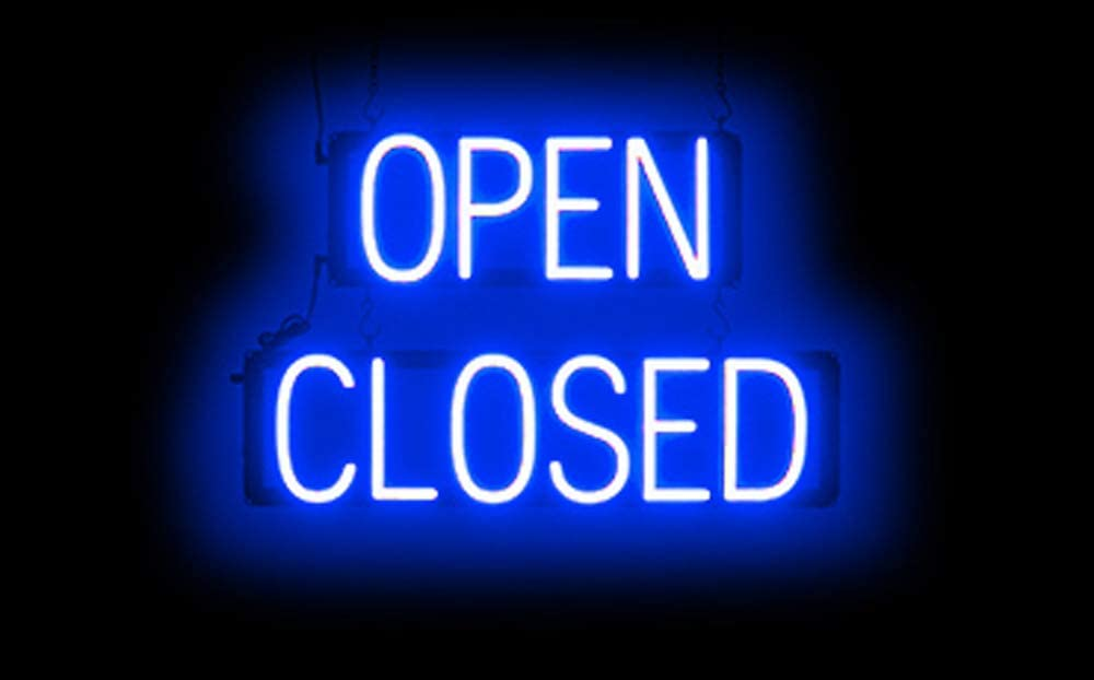 SpellBrite Ultra-Bright Open Closed Sign Neon-LED Sign Neon Look, LED Performance