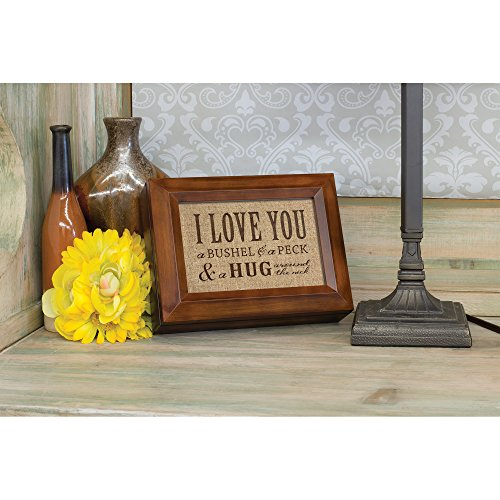 I Love You A Bushel & A Peck Wood Finish Jewelry Music Box - Plays Tune You Are My Sunshine by Cottage Garden (Image #4)