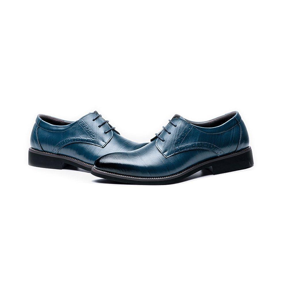 LEDLFIE LEDLFIE LEDLFIE Herren Echtleder Schuhe Schuhe Herrenschuhe Geschäft Schnürsenkel Schuhe Blau b3d4c0