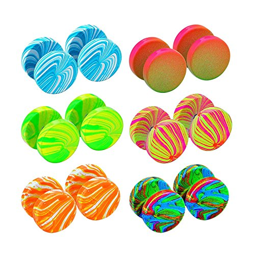 JewelrieShop Fake Plugs Faux Gauges Plugs Earring for Men Stainless Steel Studs Circle Flat Back Cheater Illusion Tunnel Dumbbell Earrings Ear Plugs Women (04. Two of Each Color, 6 - Fake Gauge Plugs