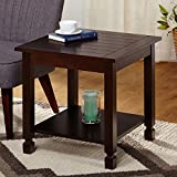 Simple Living Ethan End Table, Brown ( 24 x 24 x 22 )
