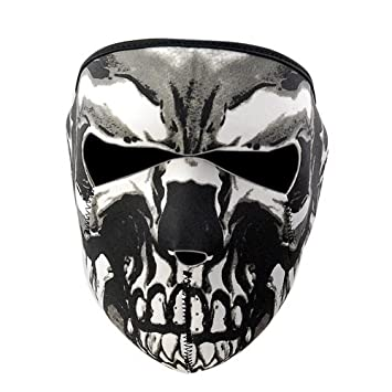 Máscara de motocicleta, esquí, snowboard, negra, de neopreno, reversible, 2