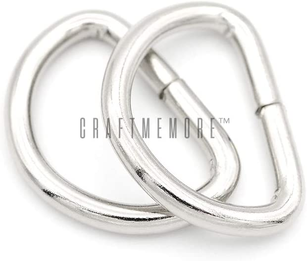 CRAFTMEMORE 3//4 /& 1 Inch D-Ring Findings Metal Non Welded D Rings for Belts Bags Landyard Leathercraft Avail 4 Colors 3//4 x 100 Pack, Antique Brass