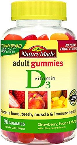 Nature Made Vitamin D3 Adult Gummies (2,000 IU per serving) 90 Ct