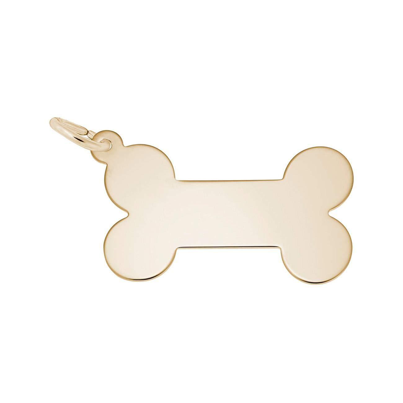 Yellow Gold Dog Bone Charm