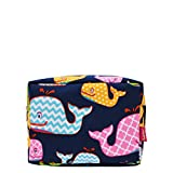 Sea Summer Whale Print NGIL Large Cosmetic Travel Pouch