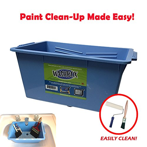 (The Washbox Paint Tray for Brush Clean Up Large Insert for Sinks to Make Paint Cleanup Easy)