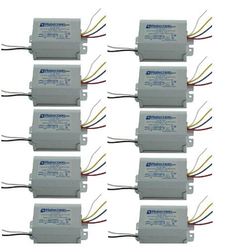 (ROBERTSON 2M10095 SS2P /M Quik-Pak of 10 Fluorescent mBallasts for 1 F20T12, F15T12, F14T12, F15T8 or F14T8 Linear Lamp, Preheat Self Start, 120Vac, 60Hz, Normal Ballast Factor, NPF)
