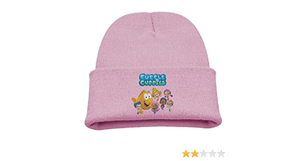 dcd72c2b0a821 Amazon.com  Bubble Guppies Cartoon Warm Winter Hat Knit Beanie Skull Cap  Cuff Beanie Hat Winter Hats Children  Clothing