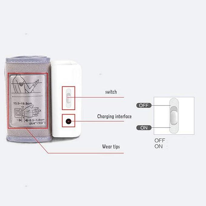 Blood Pressure Meter LCD Digital Display Muñeca Automática Monitor De Presión Arterial con Brazalete Hogar Uso Tensiómetro Tonómetro: Amazon.es: Deportes y ...