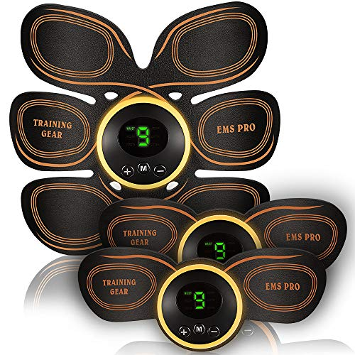 ABS Stimulator Muscle Toner Muscle Stimulator for Man Women at Home Abs Stimulating Belt with 6 Modes and 10 Levels Free 10pcs Gel Pads