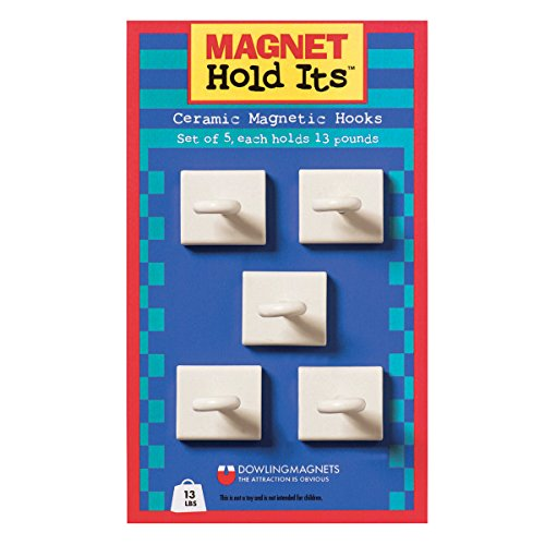 Dowling Magnets Ceramic Ceiling Hooks (Set of 5)