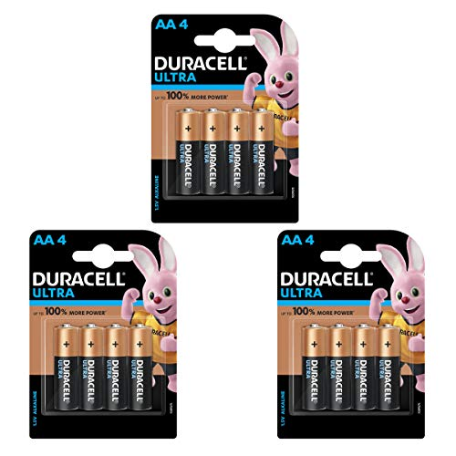Duracell Alkaline AA Battery with Duralock Technology – 12 Pieces