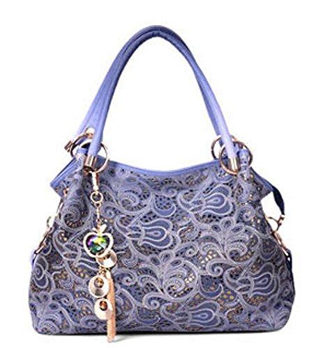 Aoligei Bolso mujer moda gama alta Europa y los Estados Unidos Retro hueco tallado único bolso Xiangyun D