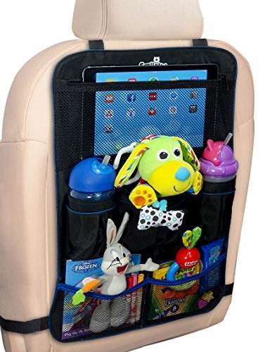 smiinky backseat car organizer for kids popular road trip car accessories when traveling with babies or kid perfect unique baby gift idea back seat storage