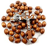 Nazareth Store Wood Rosary Oval Beads Catholic Necklace - Best Reviews Guide