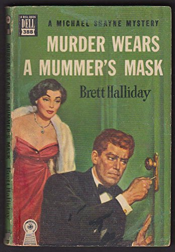 Brett Halliday: Murder Wears a Mummer's Mask GGA mapback pb 1943 by The Jumping Frog