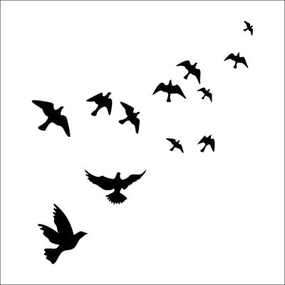 Angsuphe Flying Black Bird Flying High to Sky 3D Removable Vinyl Wall Decals Mural for Nursery Bedroom Tree Wall Decoration: Home & Kitchen