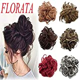 Wavy Curly Messy Bun Updo Synthetic Hairpiece Scrunchie Ponytail Hair Extensions HairPiece Donut Hair Chignons Wigs