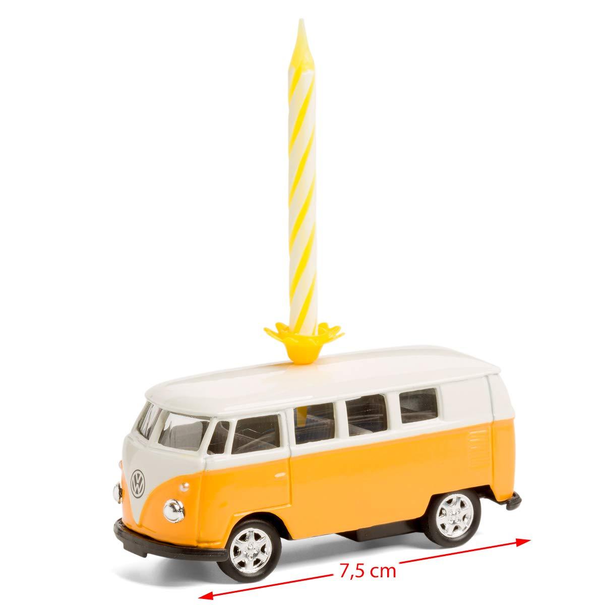 corpus delicti :: Vela sobre Ruedas - el Regalo de cumpleaños para Todos los fanáticos de Bulli - VW Bus T1 Bulli de Metal (Amarillo)