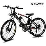 Ferty 2018 New Electric Mountain Bicycle with Removable Large Capacity Lithium-Ion Battery Speeds System Bike Boys [US STOCK]