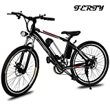 Ferty 2018 New Electric Mountain Bicycle with Removable Large Capacity Lithium-Ion Battery Speeds System Bike for Mens [US STOCK]