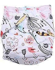 Luier baby peuter snap absorberende wasbare luier herbruikbare zwemluier voor jongens meisjes, One Size Fit All (#2)