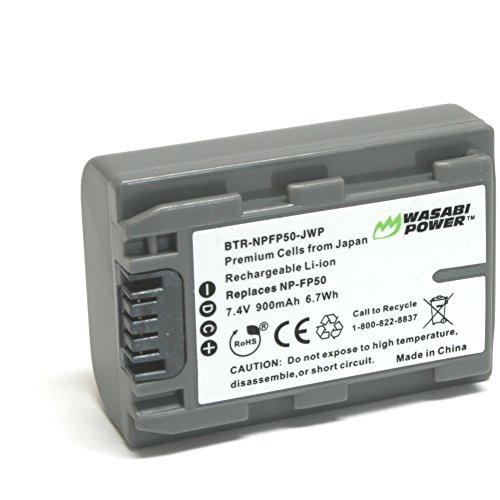 Wasabi Power Battery for Sony NP-FP50, NP-FP30 (900mAh) and Sony DCR-DVD103, DCR-DVD105, DCR-DVD203, DCR-DVD205, DCR-DVD305, DCR-DVD92, DCR-HC20, DCR-HC21, DCR-HC26, DCR-HC30, DCR-HC32, DCR-HC36, DCR-HC40, DCR-HC42, DCR-HC46, DCR-HC65, DCR-HC85, DCR-HC96, DCR-SR40, DCR-SR60, DCR-SR80, DCR-SR100