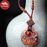 Generic Long_ sweater chain necklace Pendant Retro national _wind_ women girl _literary_cotton_with_ necklace Pendant _alloy_ jewelry necklace Pendant fashion