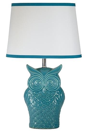 Ashley Furniture Signature Design   Sarva Owl Glaze Table Lamp    Vintage Inspired Ceramic Base