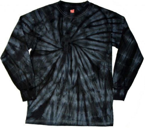 Amazon Com Buy Cool Shirts Mens Tie Dye Shirt Spider Black Long