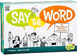 Peaceable Kingdom Say The Word Award Winning Cooperative Silly Story Memory Game for Friends and Families