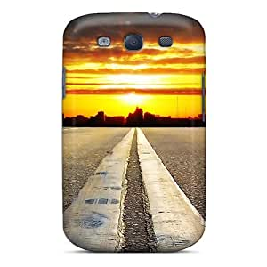 High-quality Durability Case For Galaxy S3(double Line Sunset)