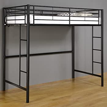 Amazon Com Home Loft Concept Twin Loft Bed With Built In