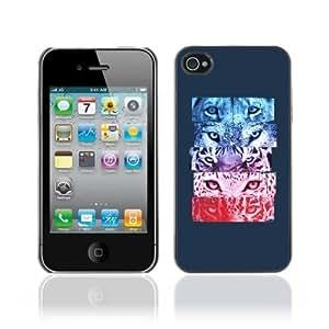 Designer Depo Hard Protection Case for Apple iPhone 4 4S / Cool Tiger Jaguar Cat Eyes