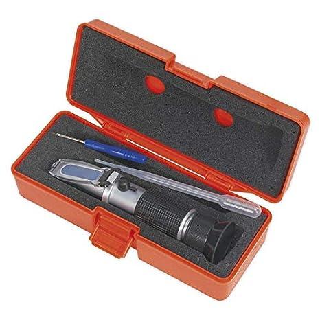 Sealey - Sealey VS0052 - Refractómetro anticongelante/fluidos de la batería/líquido limpiaparabrisas/AdBlue: Amazon.es: Bricolaje y herramientas