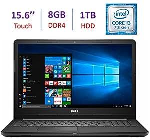 "2017 Newest Dell Inspiron Touchscreen 15.6"" HD Laptop PC, Intel Dual Core i3-7100U 2.4GHz, 8GB DDR4, 1TB HDD, DVD +/- RW, MaxxAudio, HDMI, Bluetooth, WIFI, Intel HD Graphics 620, Windows 10"
