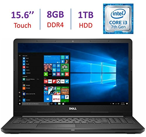 2017 Newest Dell Inspiron Touchscreen 15.6' HD Laptop PC, Intel Dual Core i3-7100U 2.4GHz, 8GB DDR4, 1TB HDD, DVD +/- RW, MaxxAudio, HDMI, Bluetooth,...