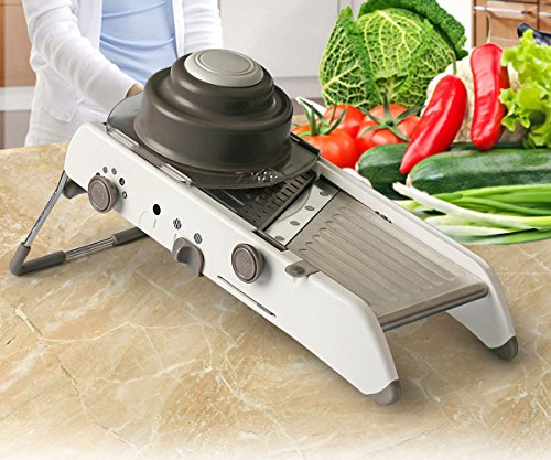 Bamboo Shoot Slice (Vegetable Slicer - VinMas Adjustable Mandoline Slicer - Food Stainless Steel Blades Cutter 18 Kinds of Slices and Shreds)