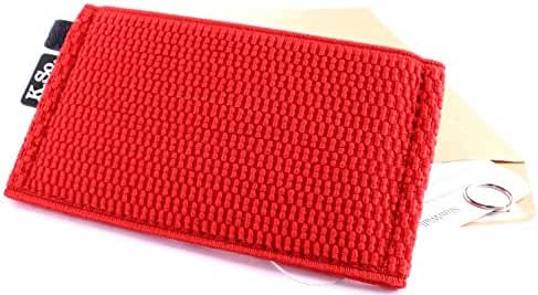 K.So. Slim Minimalist Front Pocket Wallet for Men and Women. Small Thin Compact Elastic Wallet and Credit Card Holder