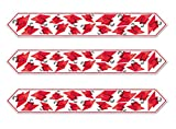 Beistle S57197RAZ3 Table Runners Party Centerpieces, Red/White/Black