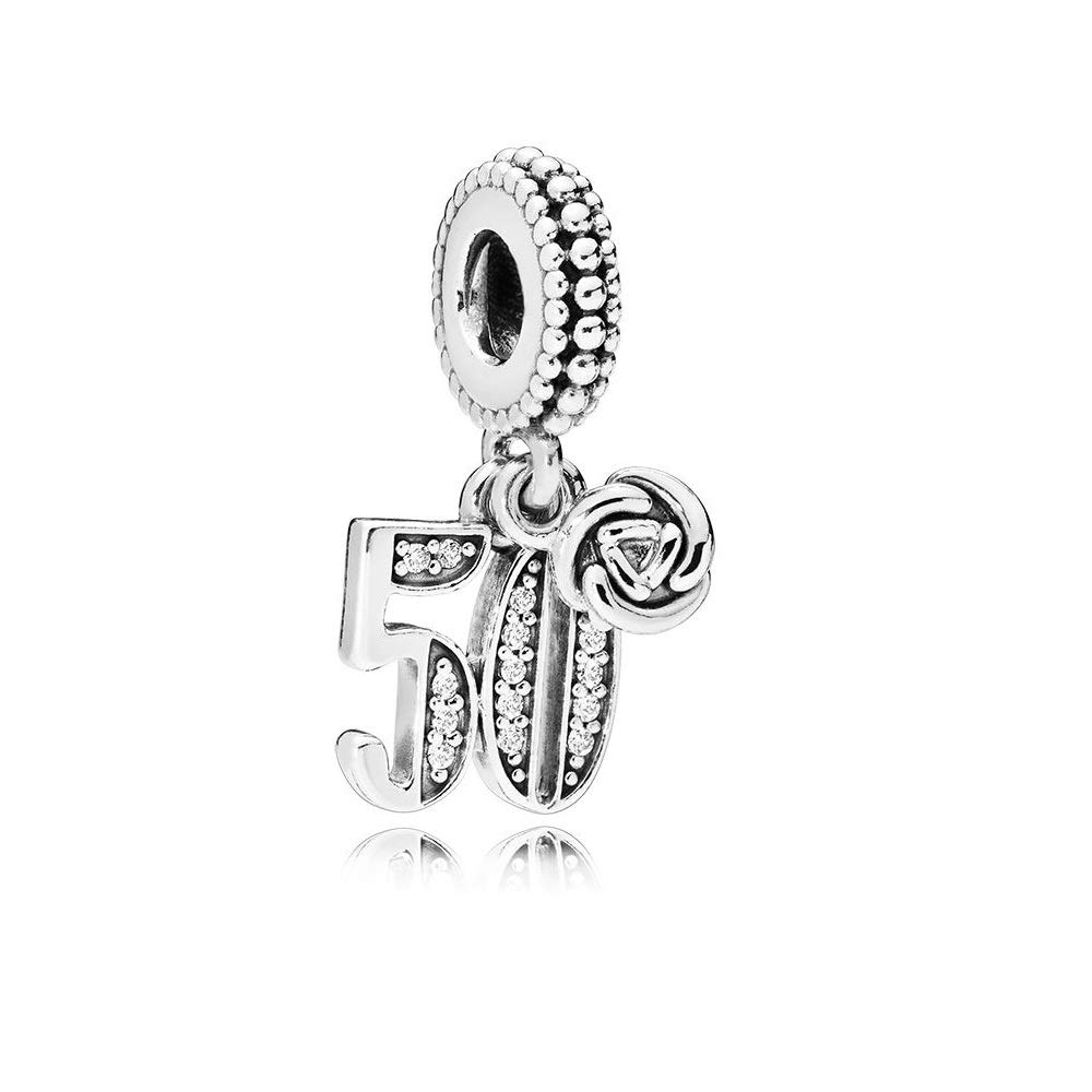 Pandora 50 Years of Love Silver Dangle Charm 797264CZ
