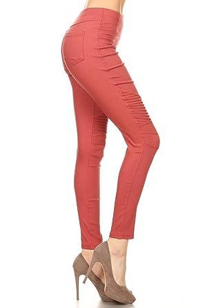 leggings depot premium quality jeggings regular and plus soft cotton blend stretch jean leggings pants w