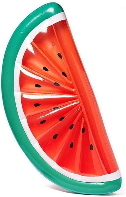 Sucastle Hinchable colchonetas Piscina Flotador Sandía para Piscina Juguete Veraniego Inflable Juguete para Fiestas Playa de Piscina con para niños y adultos180x90x20cm