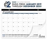 Desk Calendar 2019-2020   Monthly Planning Desk Pad Calendar 17x11''   Wall Calendar: January 2019 – December 2020   Superior Ink Bleed Resistance Thick Paper