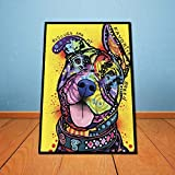 BFY Unframed Modern Abstract Oil Painting Colorful Dog Huge Wall Decor Art On Canvas
