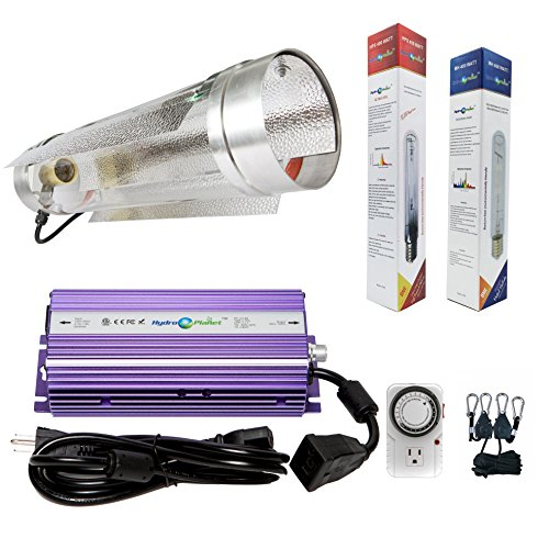 Hydroplanet trade; 400w Air Cooled Tube Hood Set Horticulture Hydroponic 1000W 600W 400W Watt Grow Light Digital Dimmable ballast System for Plants (400W) …