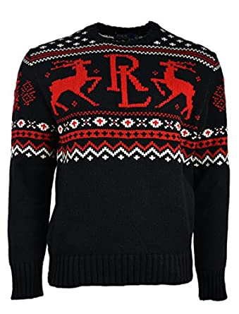 Polo Ralph Lauren Men's Fair Isle Knit Crewneck Christmas Sweater ...