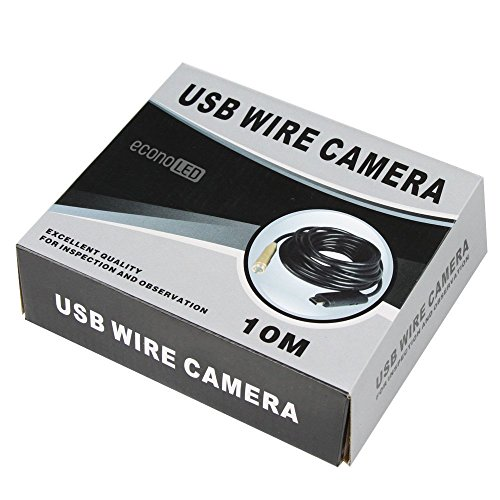 econoLED USB Waterproof Endoscope Borescope Inspection Camera Pibe Locator (10M/30ft)